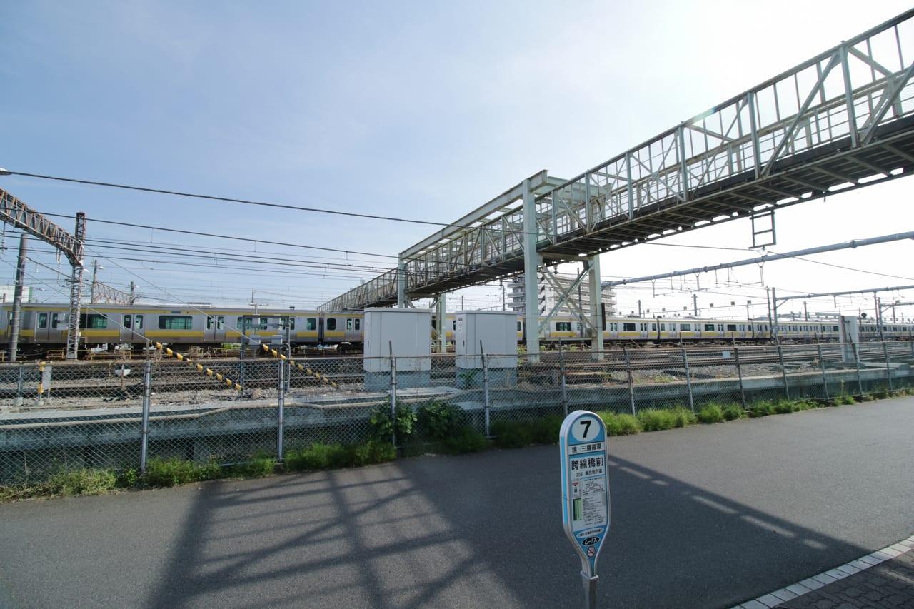 三鷹電車庫跨線橋